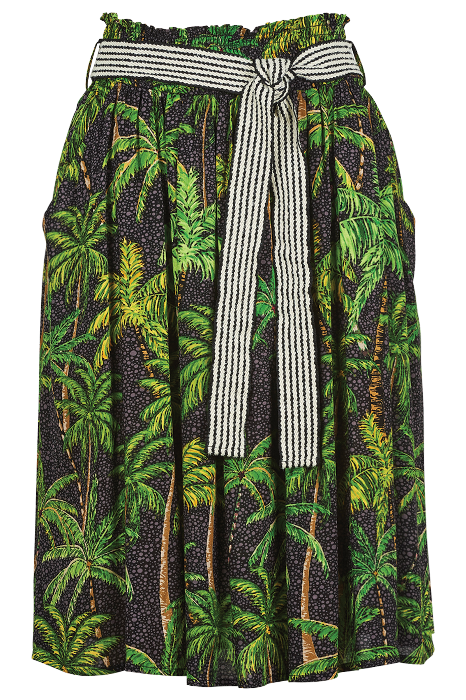 Paradise Skirt - Black Palm - The Haven Co