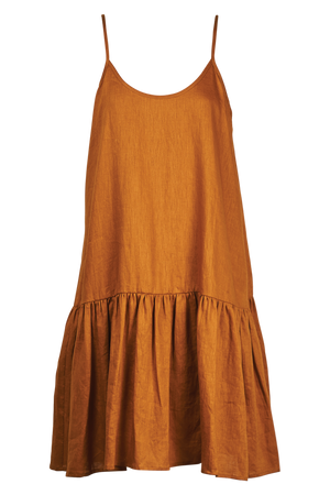 Majorca String Dress - Caramel - The Haven Co