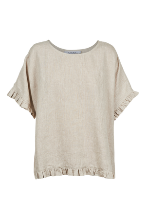 Majorca Frill Top - Sand - The Haven Co