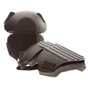 825-00 Hinged Hard Shell Knee Pads bend with your knee to provide superior protection while you work. The ribbed surface helps prevent slipping while the flat kneeling face offers stability when working on your knees.
