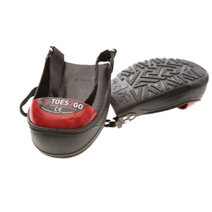 Toes2Go Adjustable Steel Toe Cap Overshoes protect the toe from crushing, stubbing or crushing injuries. Turn any footwear into steel toe cap boots