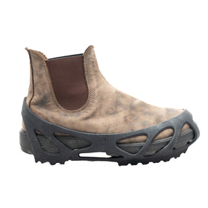 SLKGRIP Anti-Slip Traction Overshoes fit snuggle over most shoes and boots and provide outstanding traction to protect from accidental slips and falls. The deep heel and toe pockets on the SLKGRIP are designed to fit over steel toe footwear