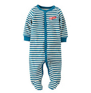 Carter's Baby Boys' Blue Striped Firetruck Terry Footie  Modelo 115A202