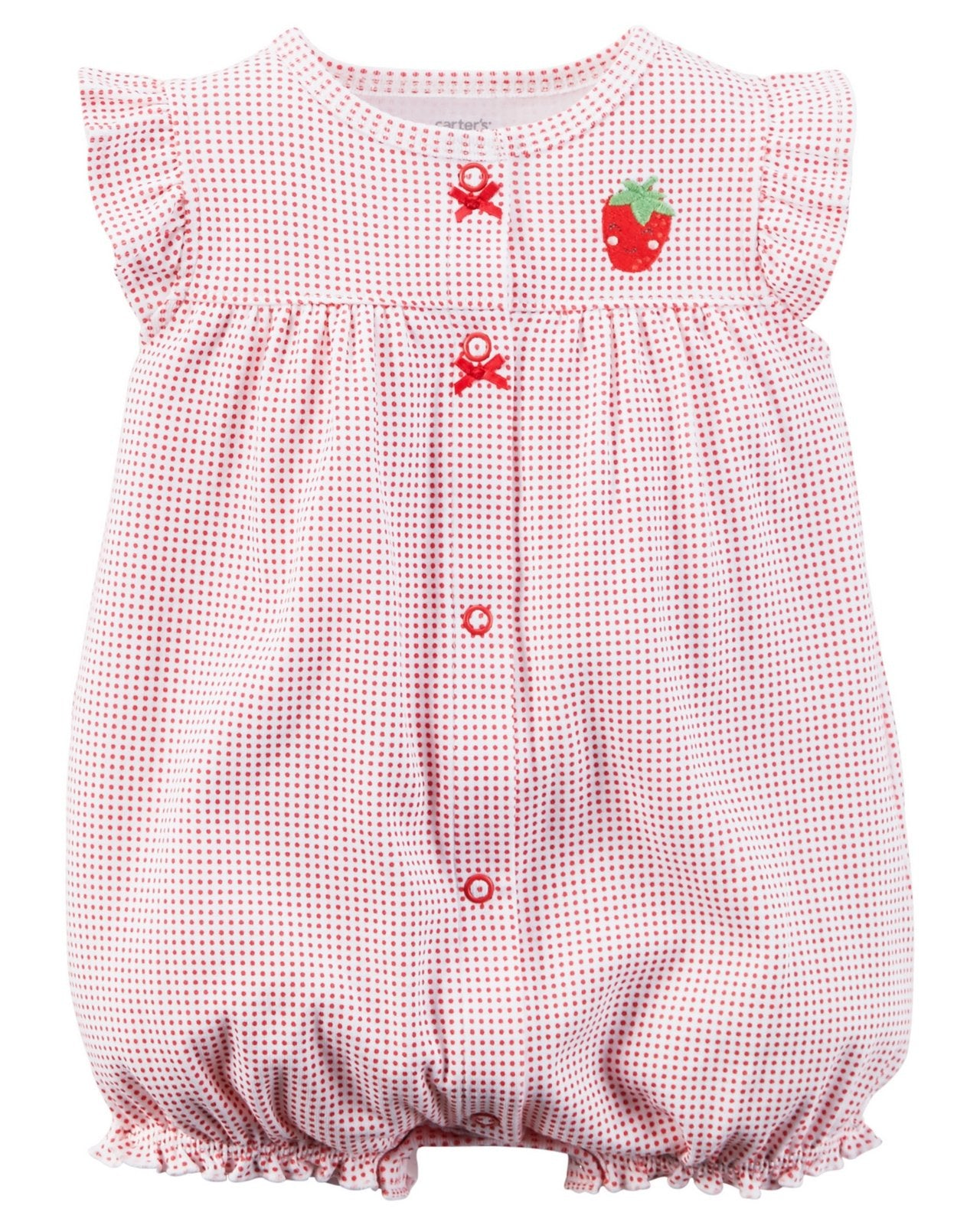Carter's Snap-Up Appliqué Cotton Romper  Modelo 118G272