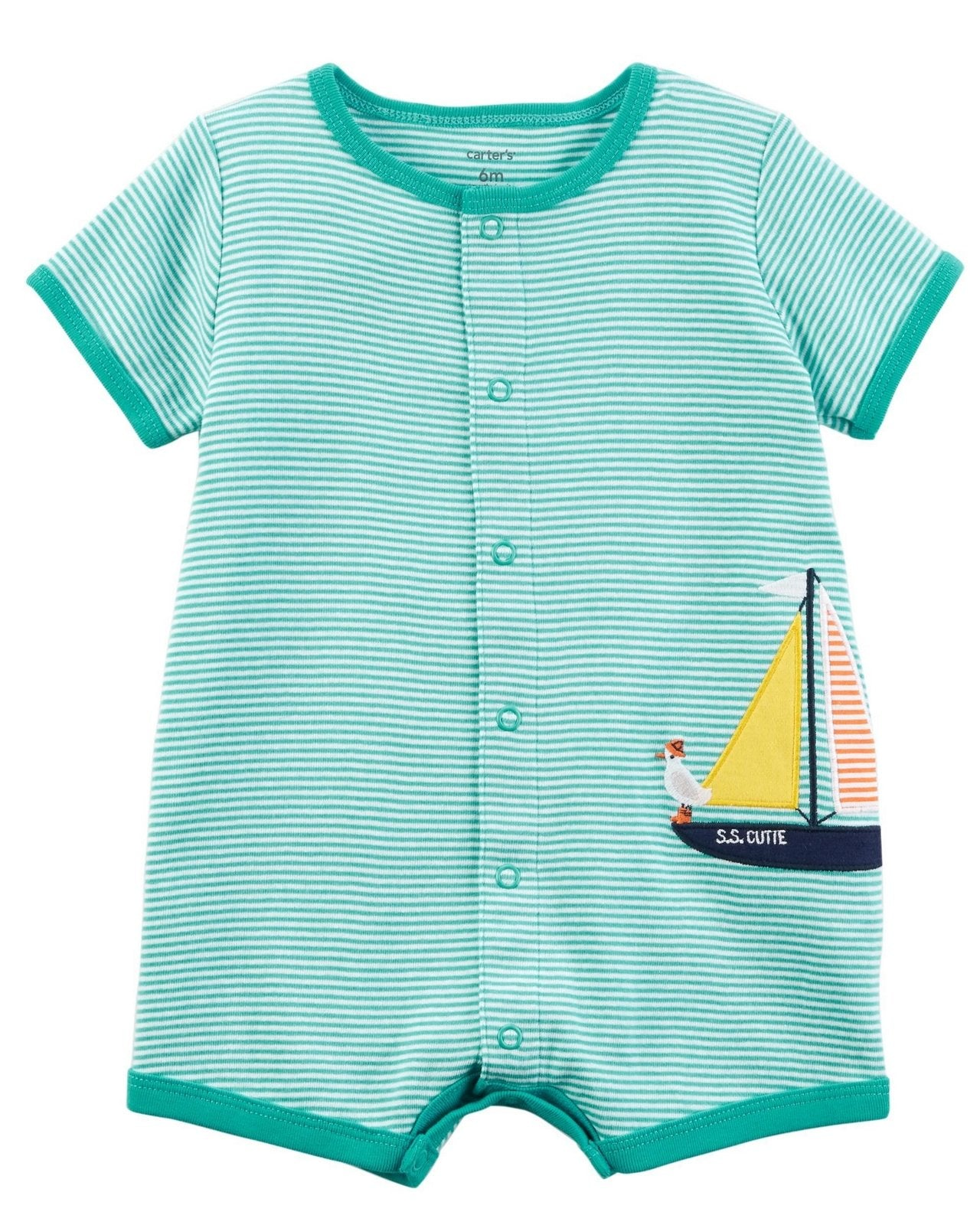 Carter's Sailboat Snap-Up Cotton Romper  Modelo 118H899