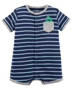 Carter's Striped Snap-Up Cotton Romper  Modelo 118H902