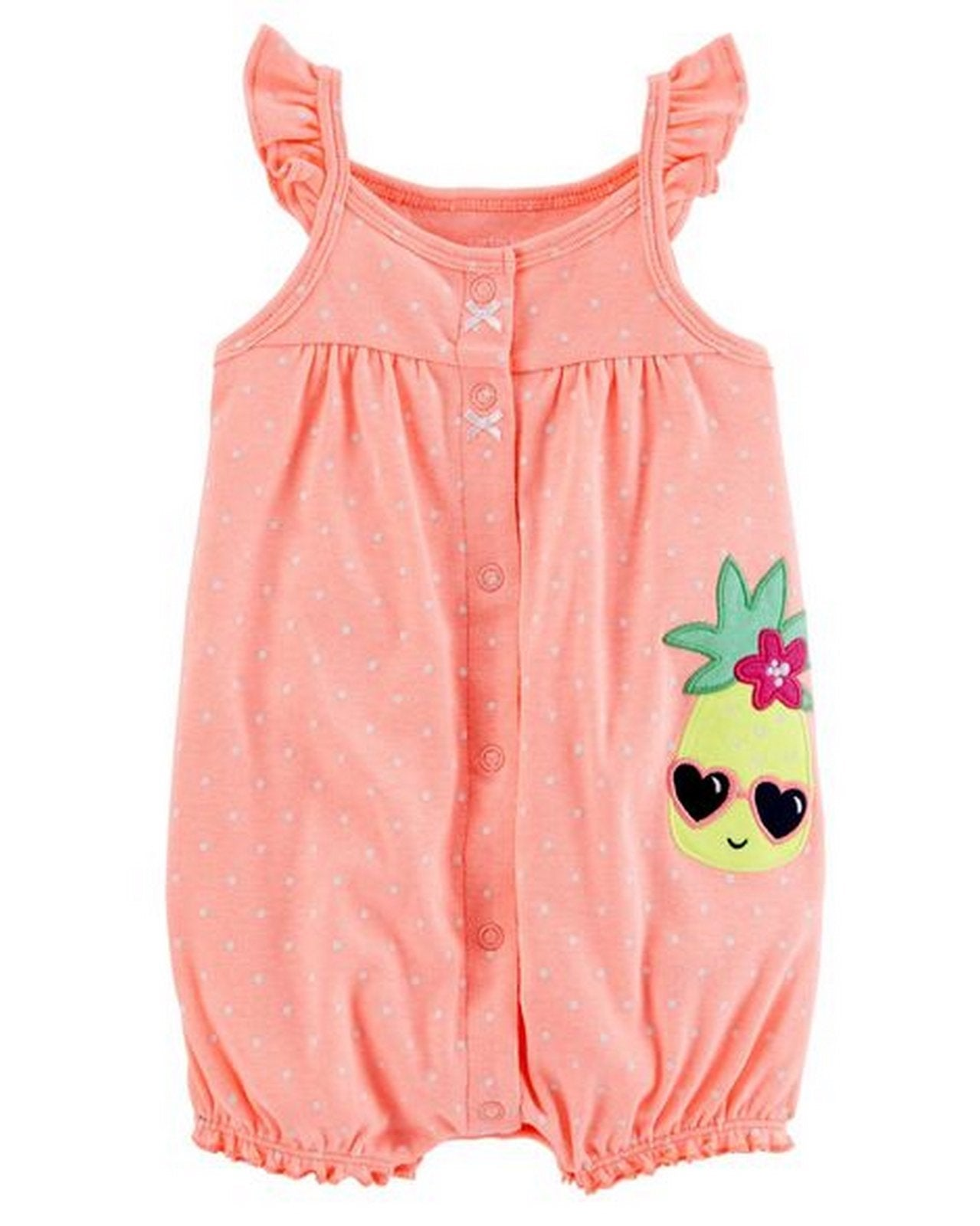 Carter's Neon Pineapple Snap-Up Cotton Romper  Modelo 118H907