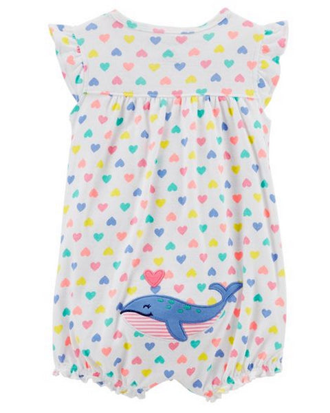 Carter's Whale Snap-Up Cotton Romper  Modelo 118H909