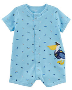 Carter's Pelican Snap-Up Cotton Romper  Modelo 118H914