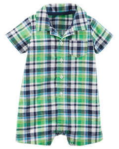 Carter's Plaid Romper  Modelo 118H976