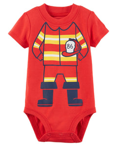 Carter's Firefighter Cut-Out Collectible Bodysuit  Modelo 118I101