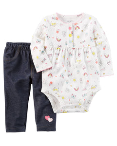 Carter's 2-Piece Bodysuit Pant Set   Modelo 121H685
