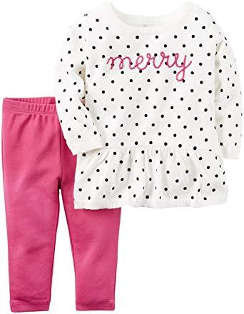 Carter's Baby Girls' 2 Pc Sets   Modelo 121G900