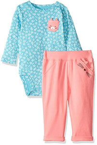 Carter's  2 Piece Cat Bodysuit Pants Set  Modelo 121H770