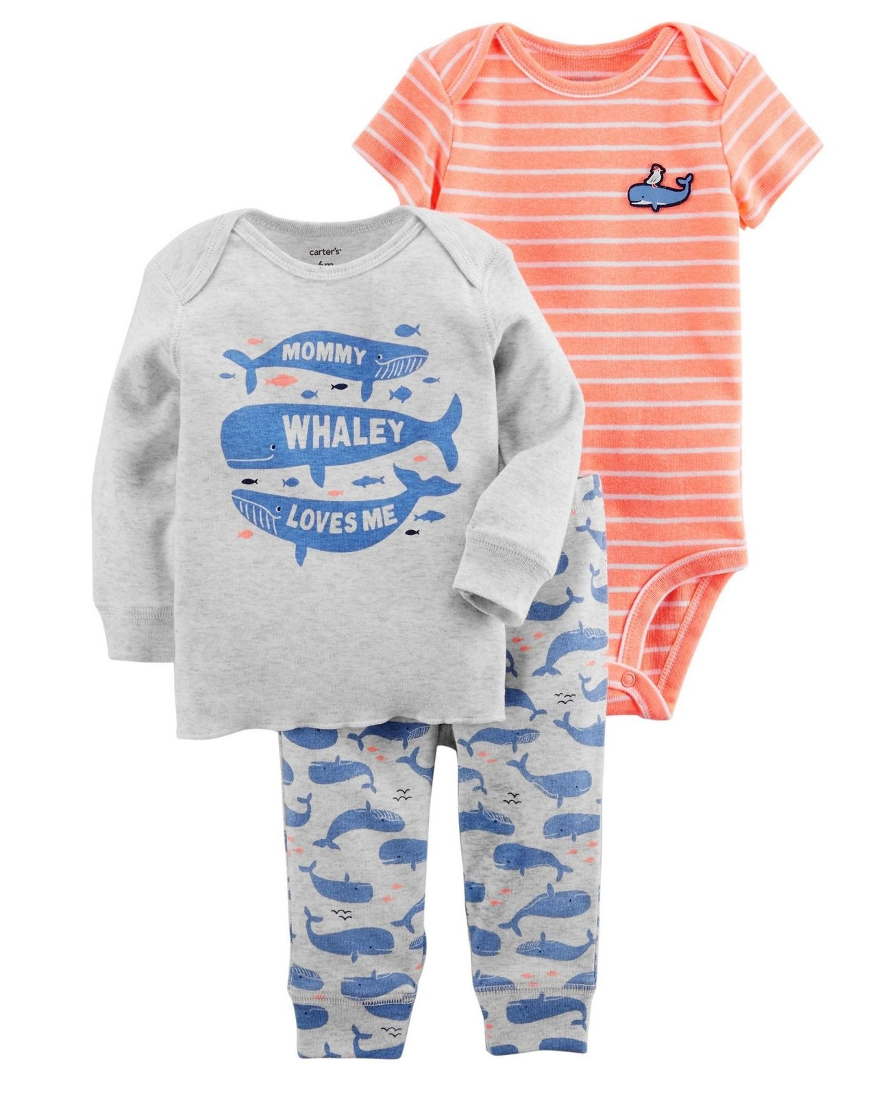 Carter's  3-Piece Whale Little Character Set  Modelo 126H182