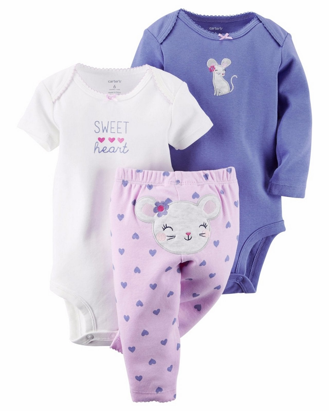 Carter's Baby Girls' 3 Pc Back Art  Modelo 126G142