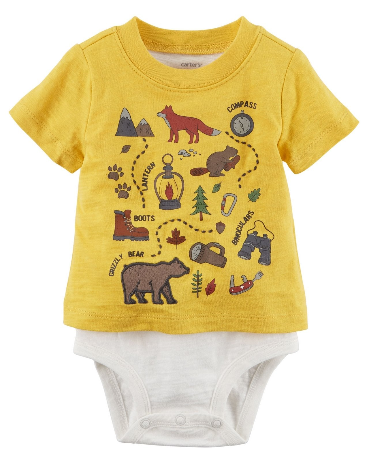 Carter's Layered-Look Camping Bodysuit  Modelo 127G680