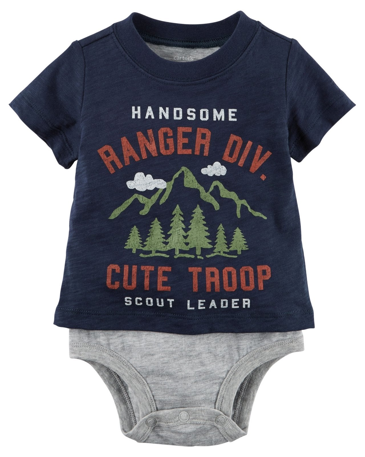 Carter's Layered-Look Scout Leader Bodysuit  Modelo 127G681