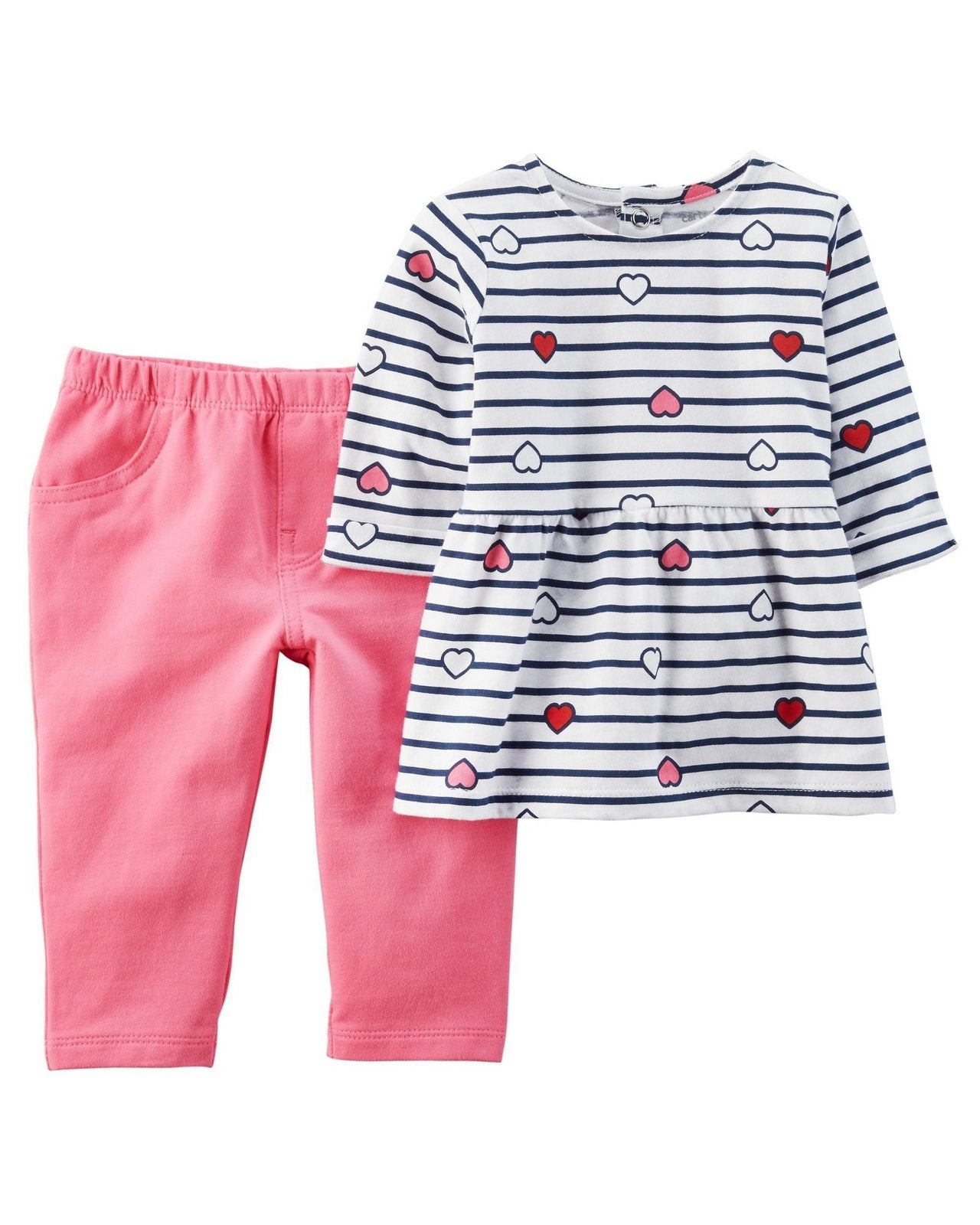 Carter's 2-Piece Heart Top & French Terry Pant Set  Modelo 127G845