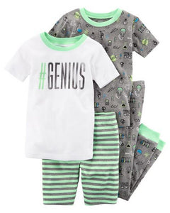 Carter's 4-Piece Neon Snug Fit Cotton PJs  Modelo 13161611