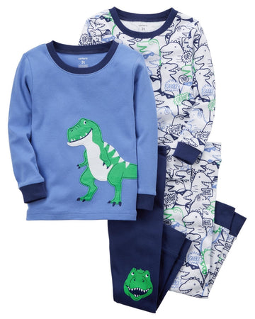 Carter's 4-Piece Dinosaur Snug Fit Cotton PJs  Modelo 23237211