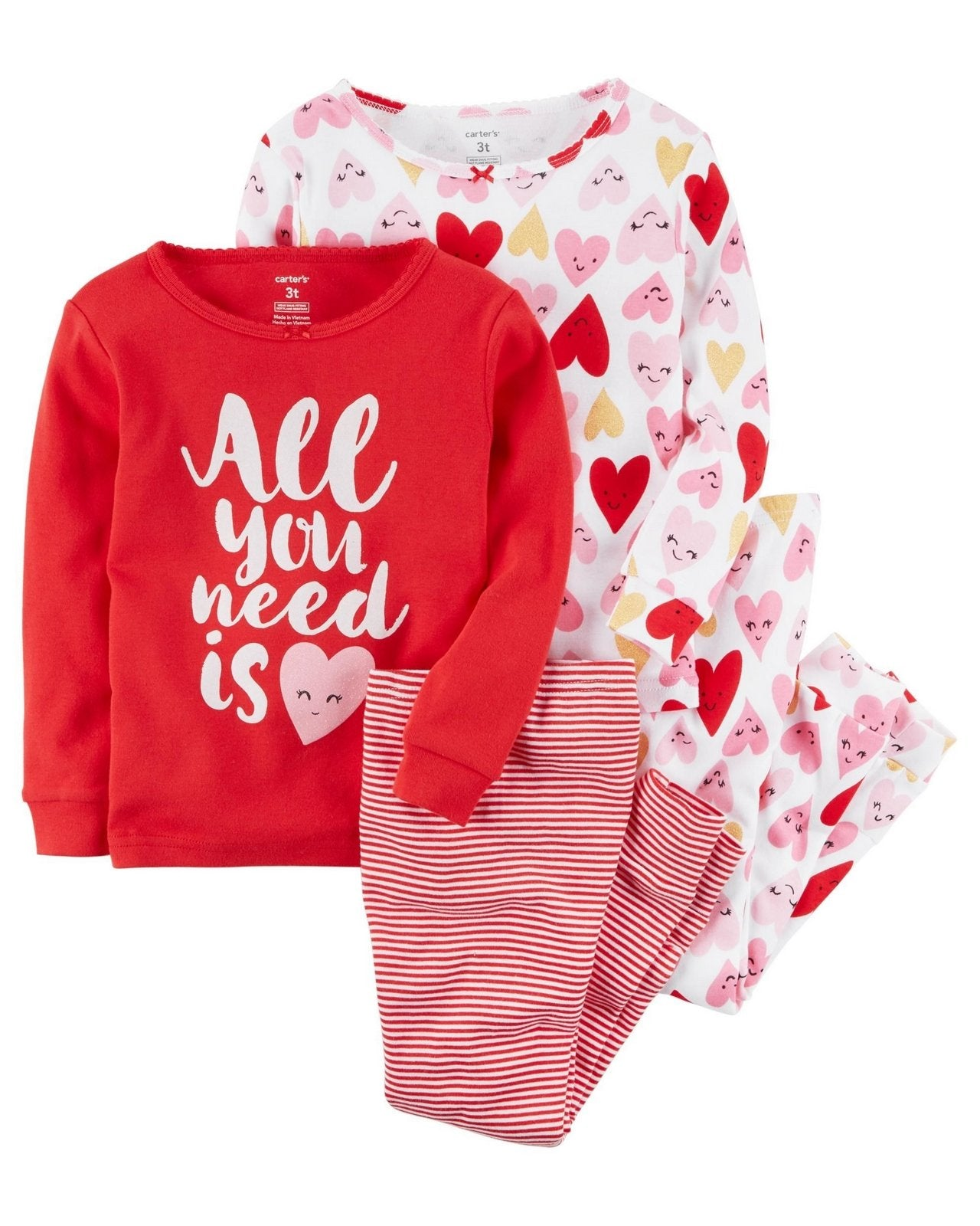 Carter's 4-Piece Snug Fit Cotton PJs   Modelo 13241212