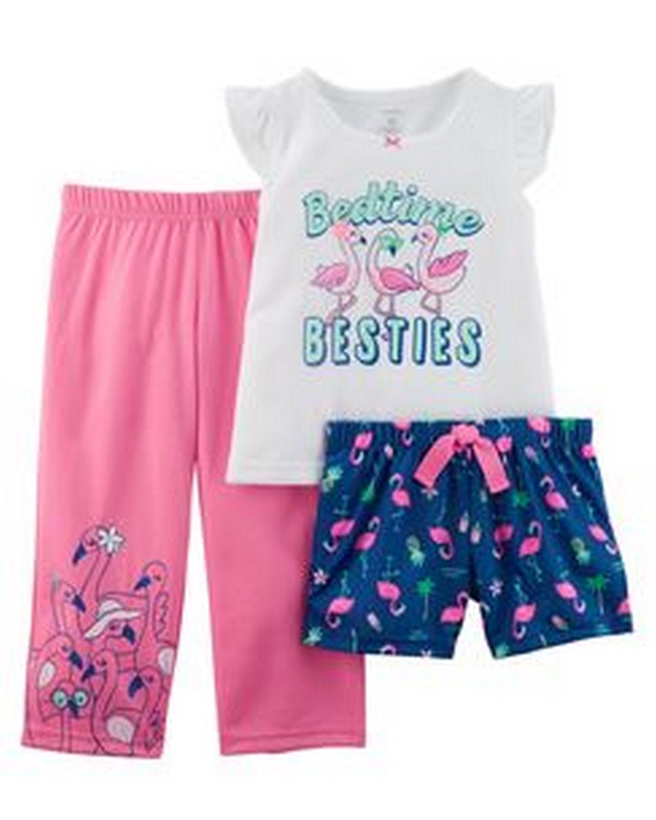 Carter's 3-Piece Neon Flamingo Poly PJs  Modelo 13476210