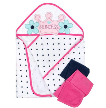 Gerber 4-Piece Girls Princess Hooded Towel & Washcloths Set  Modelo 13742416AG18OSZ