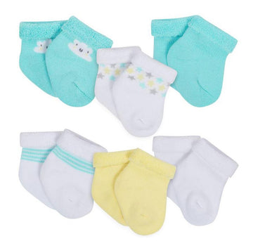 Gerber 6-Pack Neutral Cloud Print Wiggle Proof Terry Socks  Modelo 146976230