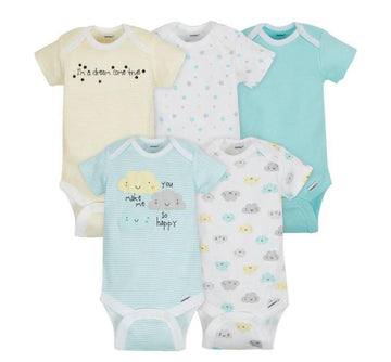 Gerber 5-Pack Neutral Cloud Onesies® Brand Short Sleeve Bodysuits  Modelo 156875230