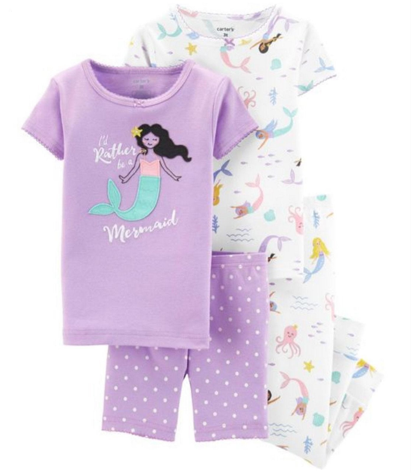 Carter's 4-Piece Mermaid Snug Fit Cotton PJs  Modelo 16416313