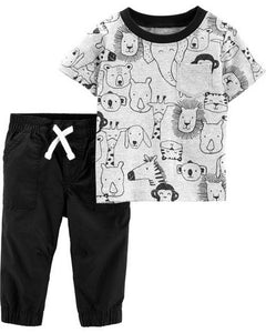 Carter's 2-Piece Animal Tee & Poplin Pant Set  Modelo 16541810