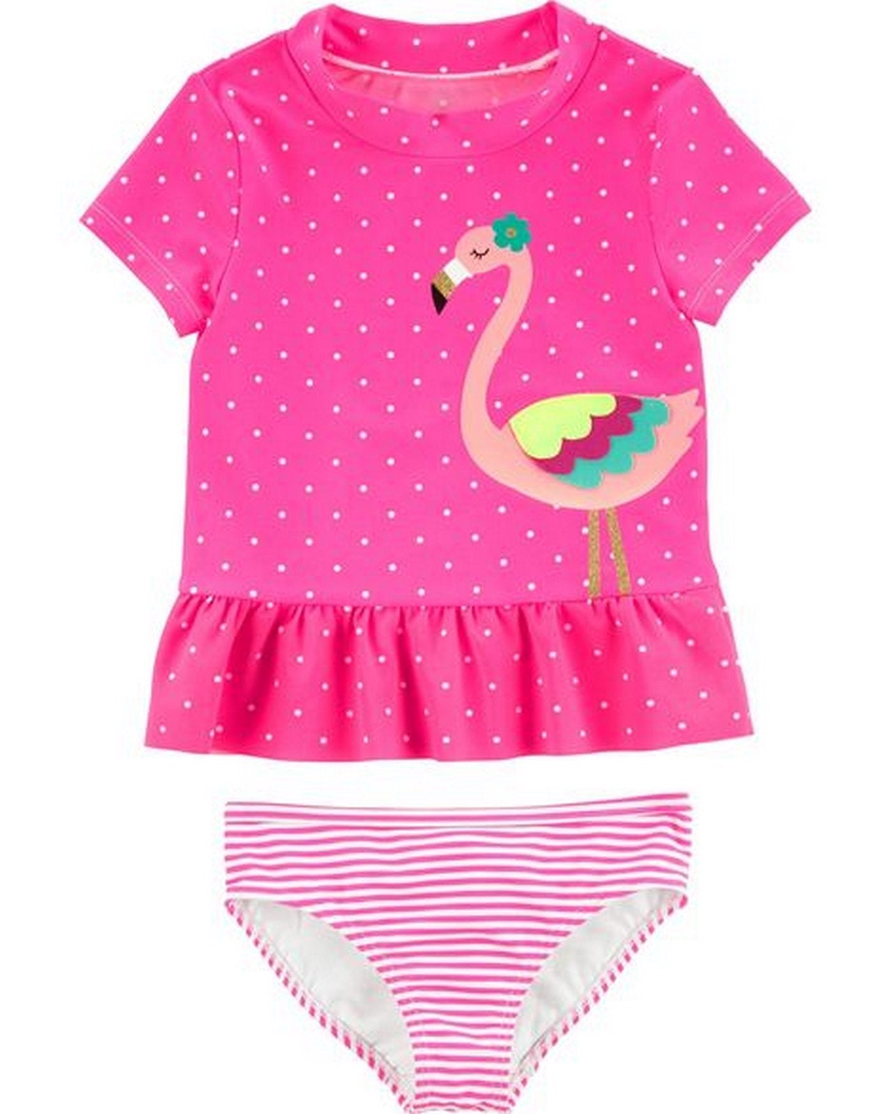 Carter's 2-Piece Flamingo Rashguard Set  Modelo 16570110