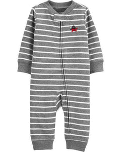 Carter's Striped Zip-Up Cotton Footless Sleep & Play  Modelo 16582710