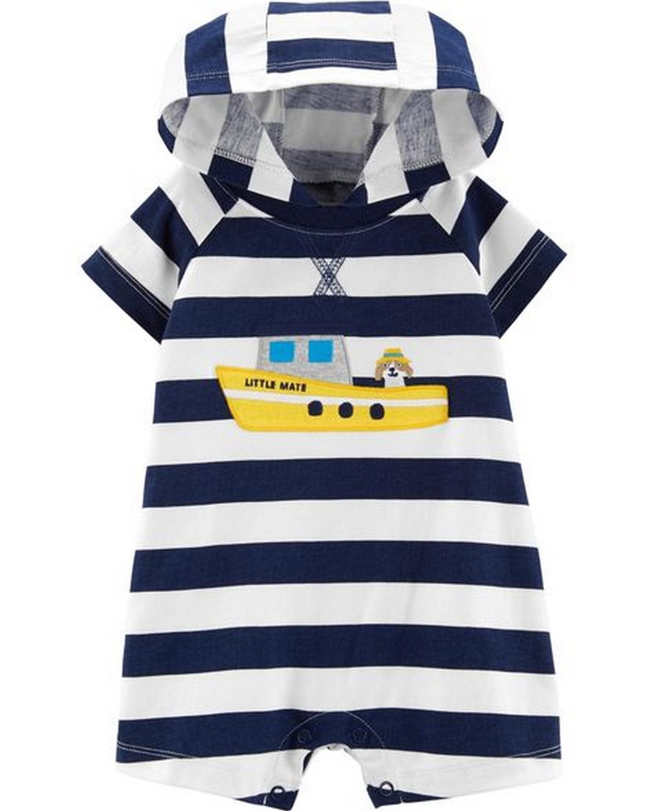 Carter's Steam Boat Hooded Romper  Modelo 16648511