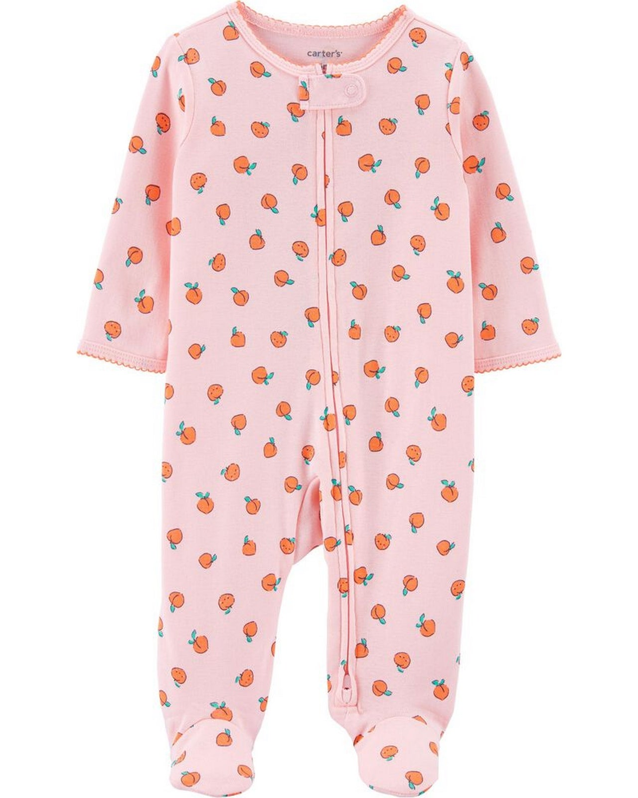 Carter's Peach 2-Way Zip Cotton Sleep & Play 1H298910