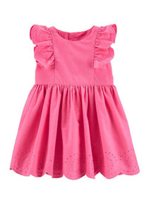 Carter's Baby Girls Embroidered Floral Poplin Dress 1H313210