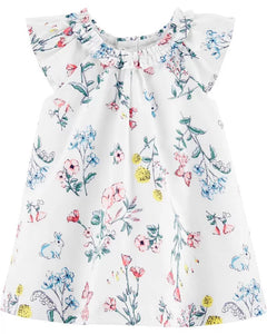 Carter's Baby Girl's Floral Sateen Dress 1H313810