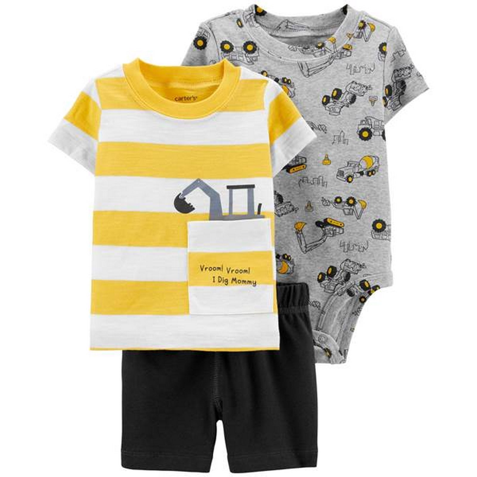 Carter's Baby 3-Piece Construction Little Short Set 1H350810