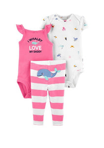 Carter's 3-Piece Whale Little Character Set 1H365110