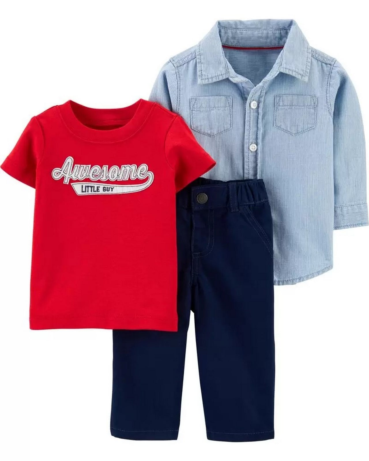Carter's Baby Boys 3-Pc. Cotton Shirt 1H435310