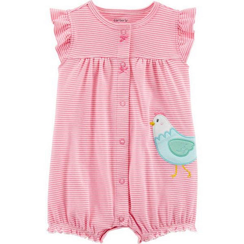 Carter's Baby Girls Chicken Snap-Up Romper  1H514010