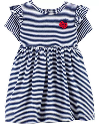 Carter's Baby Girls Striped Ladybug Dress 1H554610
