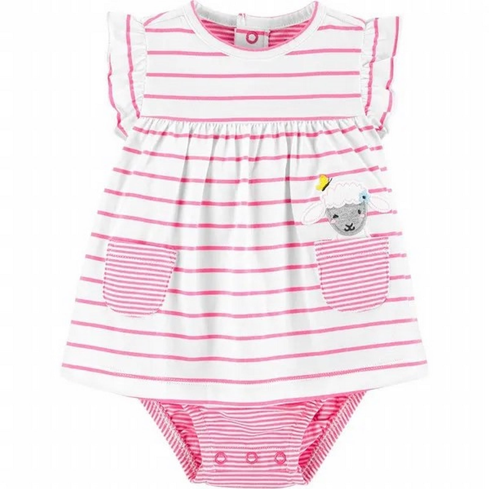 Carter's Striped Sheep Jersey Sunsuit 1H555510