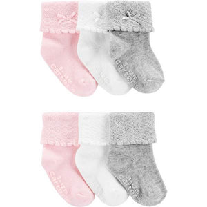 Carter's Baby Girl 6-Pack Roll Bow Socks 1H568210