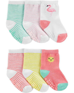 Carter's Baby Girl 6-pack Ankle Socks 1H569310