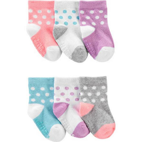 Carter's Baby Girl's 6-Pack Dot Socks 1H569410