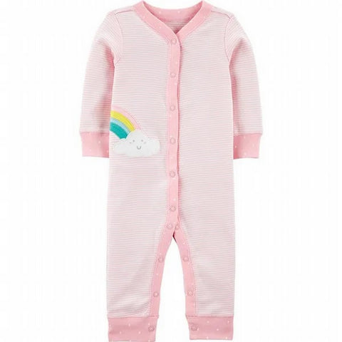 Carter's Rainbow Snap-Up Cotton Footless Sleep & Play 1H807210