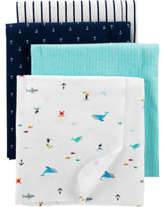 Carter's 4-PIECE RECEIVING BLANKETS 1H864310