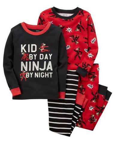 Carter's 4-Piece Ninja Snug Fit Cotton PJs  Modelo 23237210